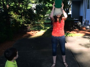 Mildly Inappropriate Mommy Alice Gomstyn gets punny with the ALS Ice Bucket Challenge.